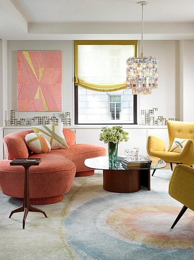 Ghế sofa cong đặc biệt thích hợp với những gia đình thiết kế theo phong cách hiện đại.