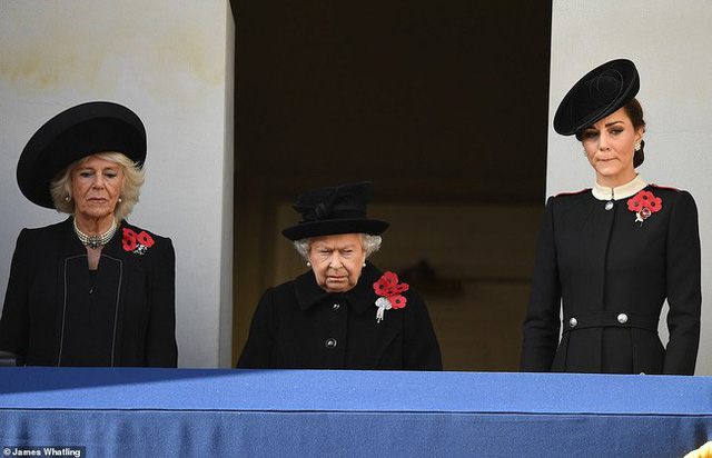 The Queen of England and two future queens of England.