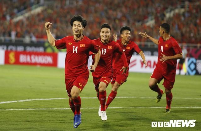 Công Phượng ghi bàn mở tỷ số ở phút thứ 12 của trận đấu. Ảnh VTC
