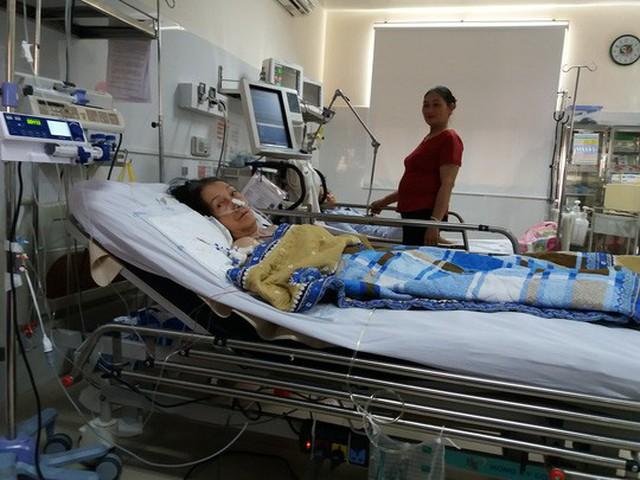 Bệnh nhân Trần Mỹ L. đang được điều trị tại bệnh viện