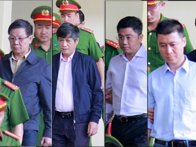 Nhóm bị cáo cộm cán trong vụ án.