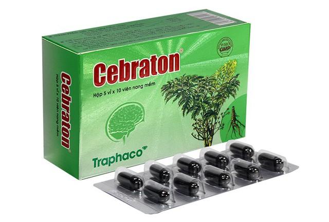 Thuốc bổ não Cebraton tăng cường lưu thông máu lên não giúp người hoạt động trí óc nhiều vượt qua deadline cuối năm nhẹ nhàng.