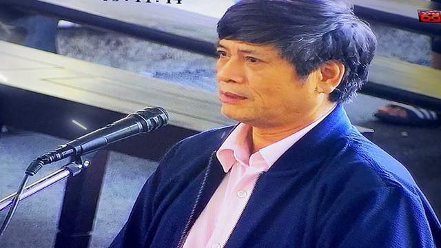 Bị cáo Nguyễn Thanh Hóa tại tòa. (ảnh: TG)