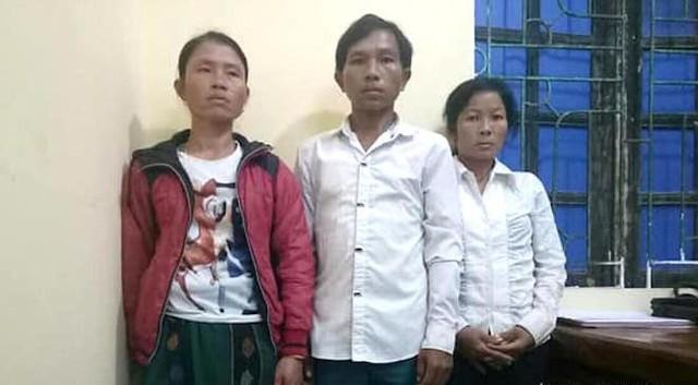 Các đối tượng buôn bán trẻ em bị bắt.