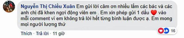 Dòng bình luận của nghệ sĩ Chiều Xuân.