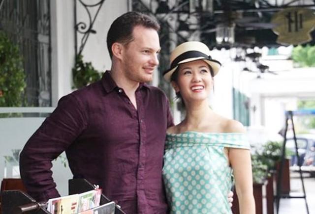Hông Nhung và chồng Tây thuở còn hạnh phúc