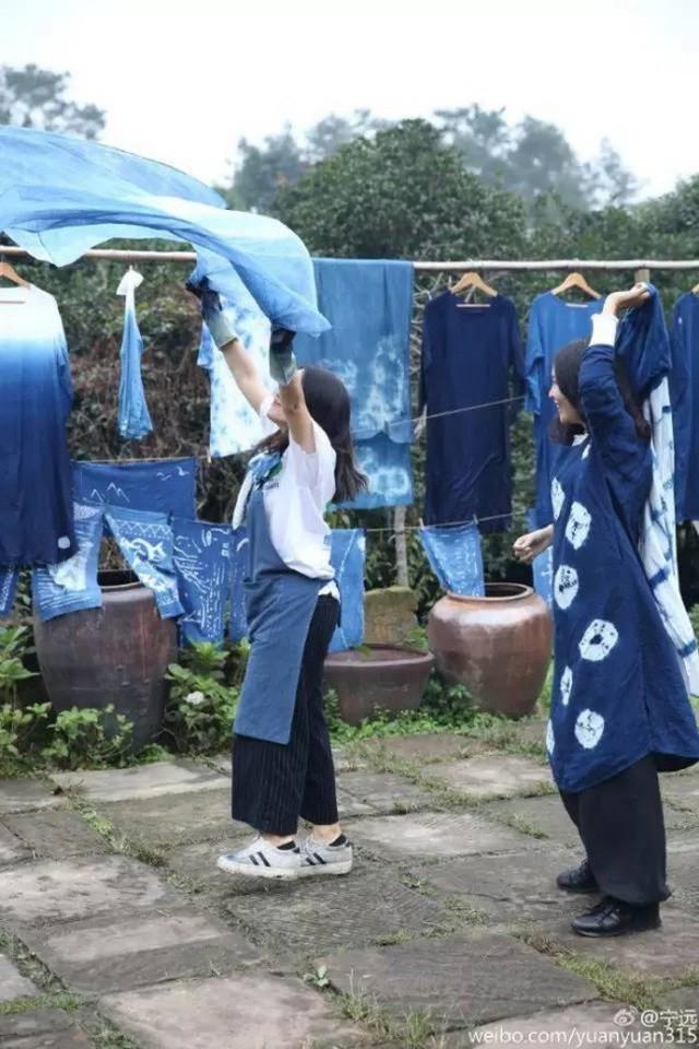 Ning Yuan đặc biệt yêu thích màu xanh.