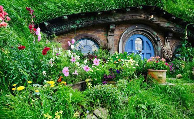 Ngôi nhà này thì đặc biệt hơn khi được trồng hẳn một vườn hoa tươi trước nhà.
