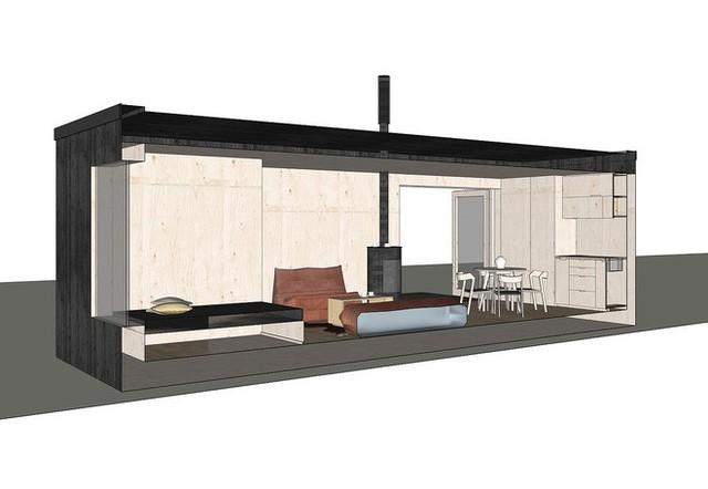 Mô hình 3D của cabin.