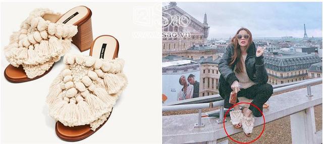 Được biết, đôi dép được nữ ca sĩ mang sang trời Âu check-in này là từ thương hiệu bình dân có giá khoảng 2 triệu đồng.