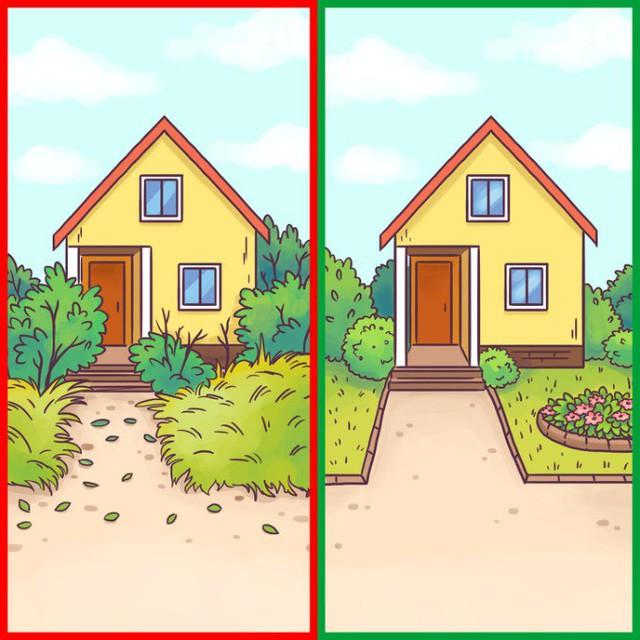 Đừng để kẻ xấu nhìn ngôi nhà của bạn và có suy nghĩ rằng không ai sống ở bên trong. Hãy chăm sóc cho những luống cỏ, khóm cây vào mùa hè và quét sạch lối đi vào mùa đông.