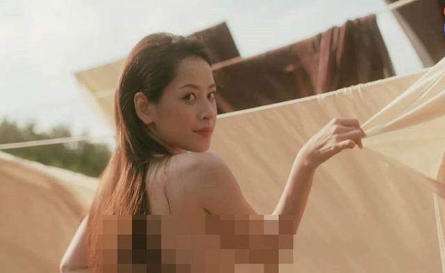 Hình ảnh bán nude của Chi Pu trong MV