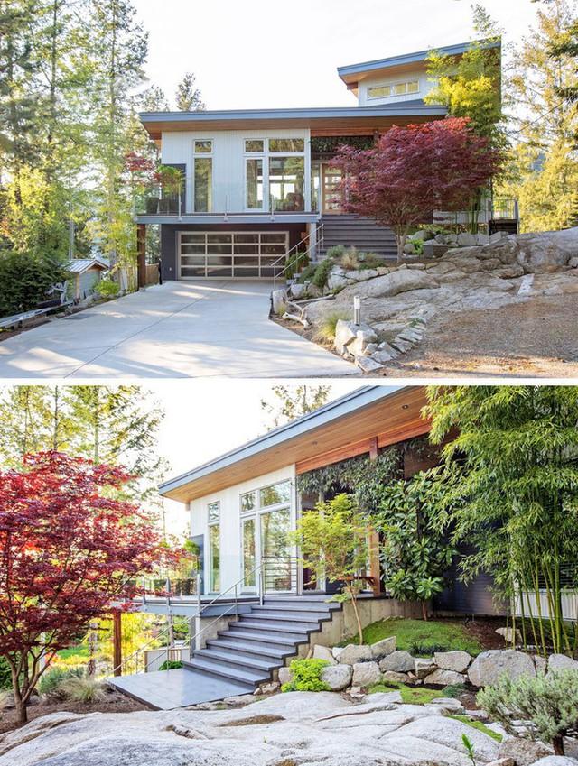 Nằm trên vách đá cạnh bờ biển Sunshine thuộc British Columbia, căn biệt thự có tầm nhìn ra vịnh Garden là nơi nghỉ dưỡng của cặp vợ chồng đến từ Vancouver, Canada.