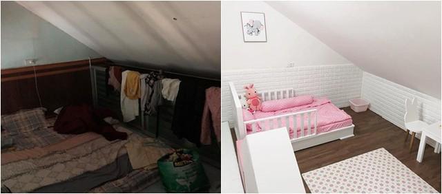Chị Trang tuân thủ chặt chẽ nguyên tắc tối giản ngay cả trong không gian dành cho bé.