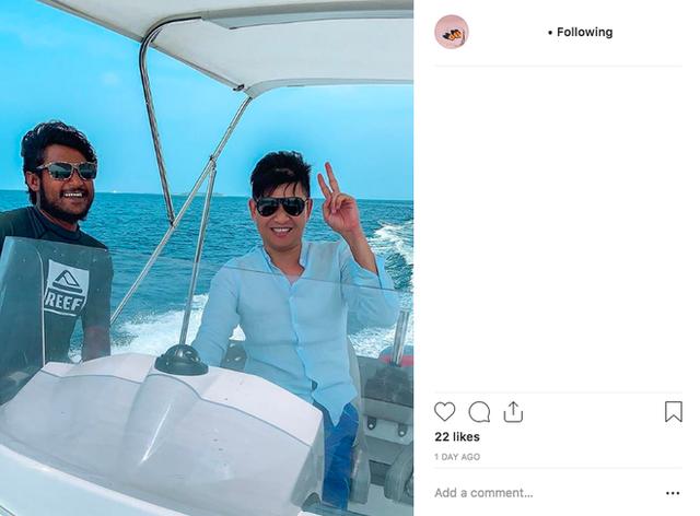 Minh Hằng đăng tấm ảnh gây chú ý ở Maldives thì người được cho là bạn trai cô cũng đăng ảnh đi du lịch
