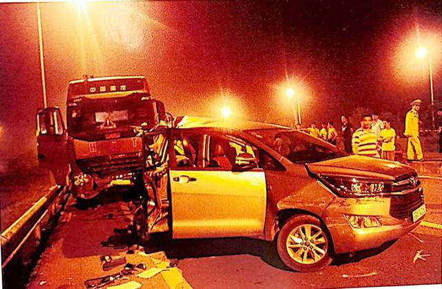 Hiện trường vụ tai nạn cao tốc Thái Nguyên. Ảnh: CQĐT