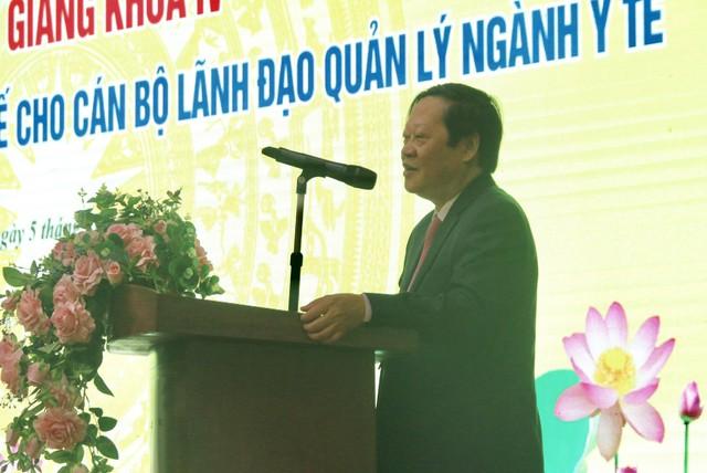 GS.TS Nguyễn Viết Tiến, Thứ trưởng Bộ Y tế phát biểu tại buổi lễ