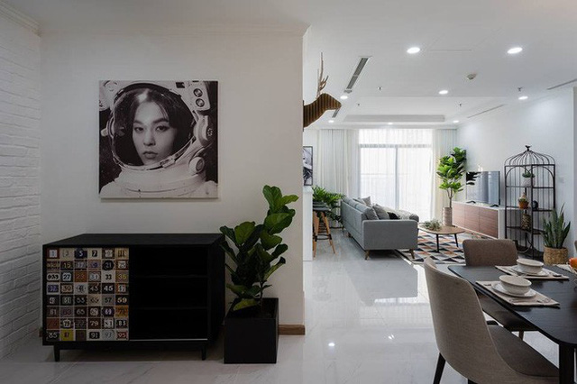 Những mảng trang trí đẹp mắt có ở khắp nơi trong nhà.