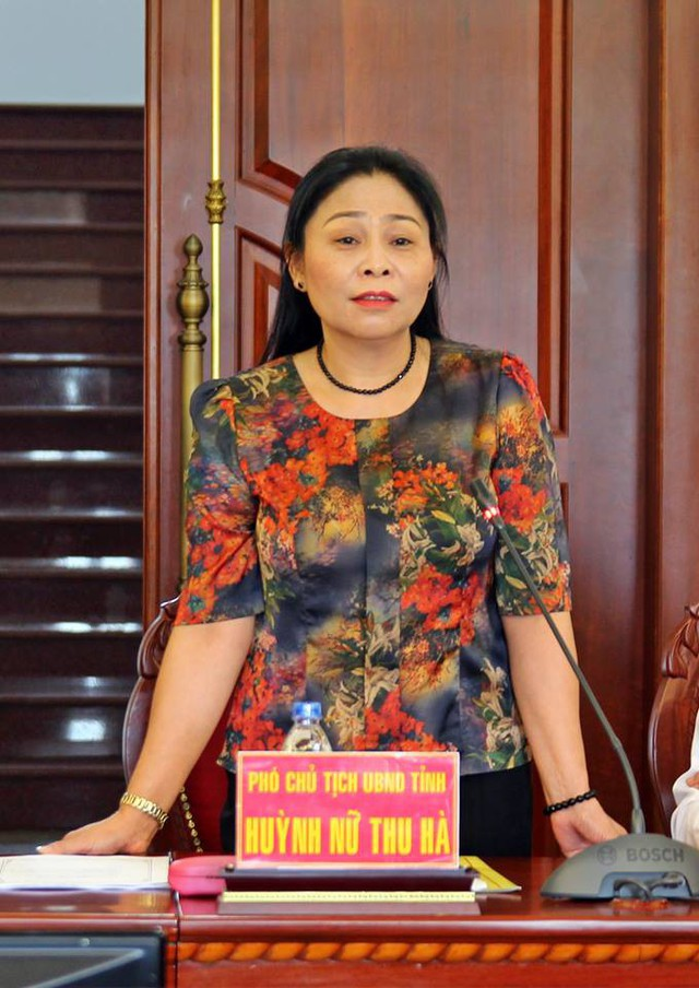 Bà Huỳnh Nữ Thu Hà - Ủy viên Ban Thường vụ Tỉnh ủy, Phó Chủ tịch UBND tỉnh Gia Lai. Ảnh: Kim Oanh.