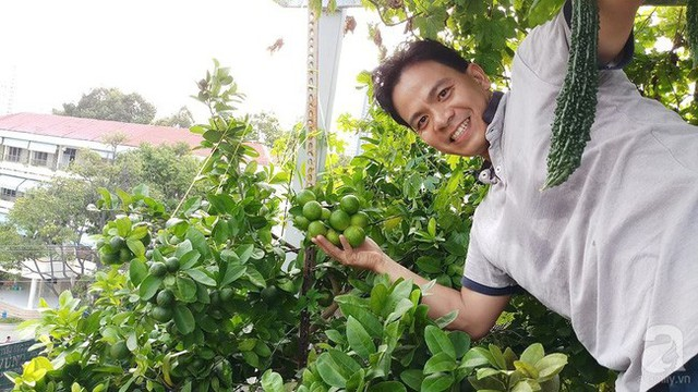 Anh Phước Toàn có đam mê đặc biệt, đó là trồng rau cho vợ con thưởng thức.
