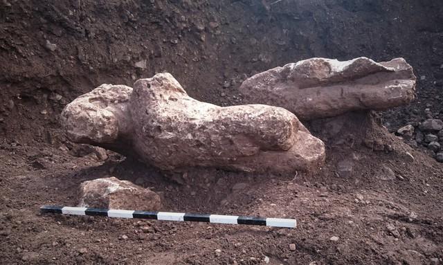 Thân của bức tượng cổ từ thời Hy Lạp cổ đại được phát hiện ở gần thị trấn Atalanti