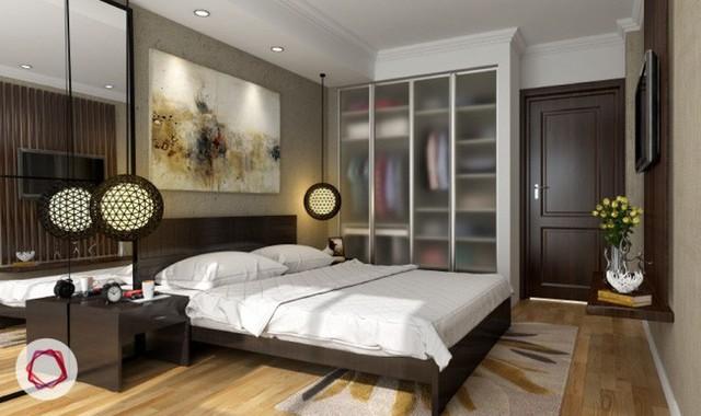 7. Tủ âm tường kính hiện đại, nhẹ nhàng cũng là giải pháp rất đáng tham khảo khi thiết kế tủ quần áo.