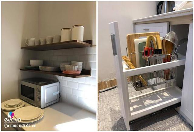Hệ tủ để các vật dụng nhà bếp bên trong.