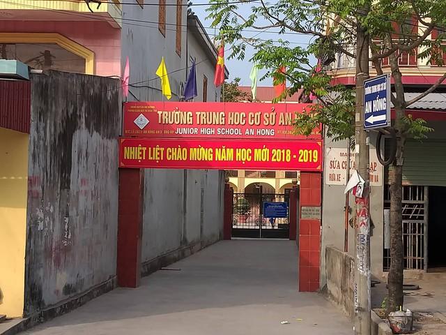 Trường THCS An Hồng nơi xảy ra sự việc ồn ào vừa qua