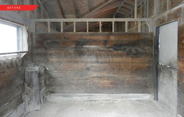 Mái, tường và cửa chủ yếu làm bằng gỗ. Tuy cũ nhưng tương đối chắc chắn.