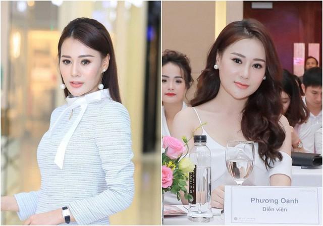 Diễn viên Phương Oanh trước và sau khi phẫu thuật thẩm mỹ. Ảnh: TL