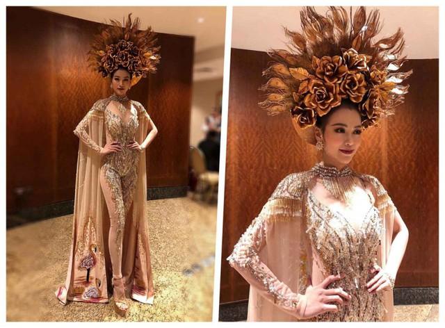 """Bộ """"Nữ thần mặt trời"""" giúp Phương Khánh giành Huy chương vàng Trang phục dân tộc châu Á và châu Đại dương"""