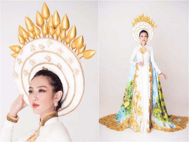 Trang phục dân tộc của người đẹp Nguyễn Thúc Thùy Tiên