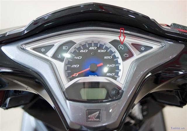 Đèn hiển thị chức năng idling stop trên xe Honda Lead.