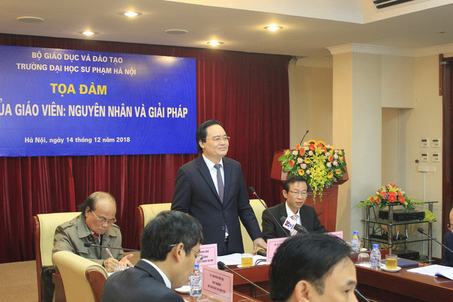 Bộ trưởng Phùng Xuân Nhạ đã chỉ đạo làm rõ thông tin thi giáo viên giỏi, học sinh yếu phải nghỉ ở nhà. Ảnh: Q.A