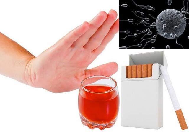 Uống rượu hút thuốc, sử dụng ma túy… ảnh hưởng đến chất lượng tinh trùng. Ảnh: T.L