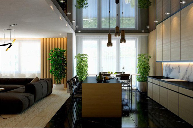 Thông thường, những bộ tủ bếp đều được các gia đình lựa chọn làm từ chất liệu gỗ.