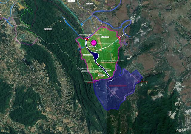 Đồ họa khu vực dự án được đề xuất