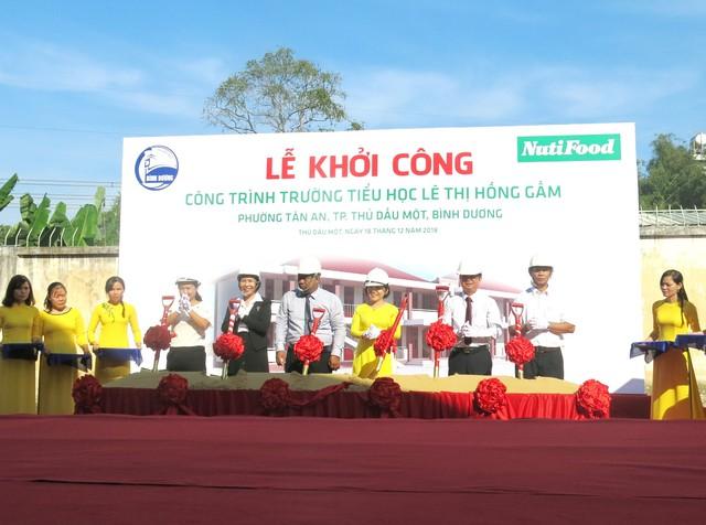 Trường tiểu học Lê Thị Hồng Gấm được khởi công, sau khi xây dựng xong sẽ góp phần giảm bớt tình trạng quá tải học sinh trên mỗi phòng học ở thành phố Thủ Dầu Một - Copy
