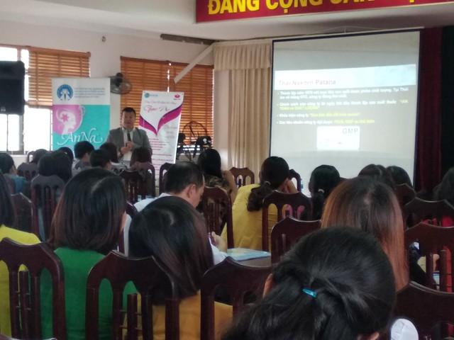 Nhiều sản phẩm của đề án được giới thiệu tại hội thảo và tập huấn