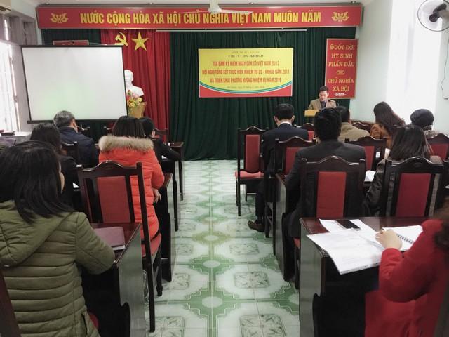 Đ/c Nguyễn Công Khanh, Chi cục trưởng Chi cục DS - KHHGĐ phát biểu tại hội nghị