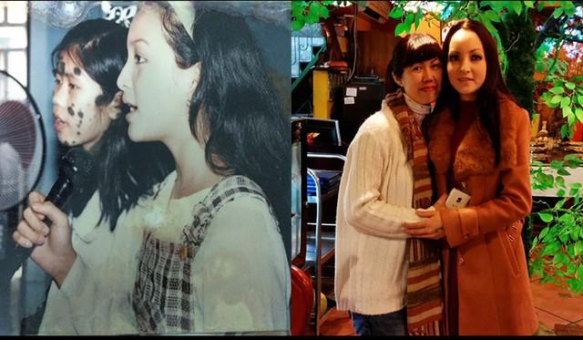 Đạo diễn, nhà sản xuất Linh Nga chụp cùng Thoa năm 1995 và năm 2017 (ảnh nhân vật cung cấp).