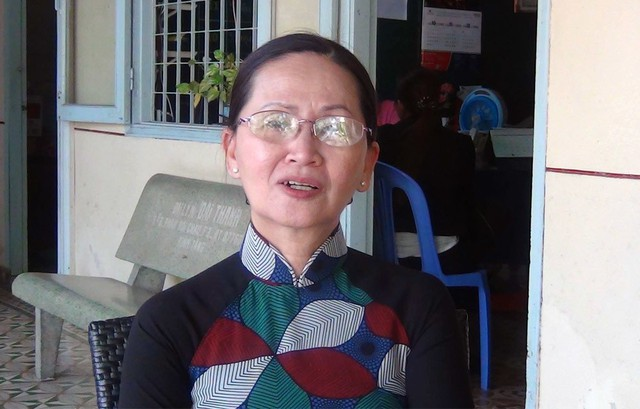 Cô Nguyễn Thị Tưởng, Hiệu trưởng Trường THPT tư thục Ấp Bắc