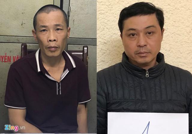 Phạm Ngọc Anh và Đặng Hồng Phương - 2 trong 3 tên cướp bị bắt. Ảnh: Hoàng Lam.