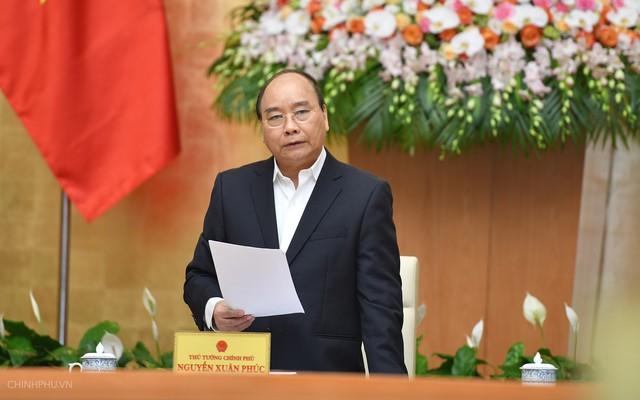 Thủ tướng Chính phủ Nguyễn Xuân Phúc chỉ đạo tại phiên họp. Ảnh: CP