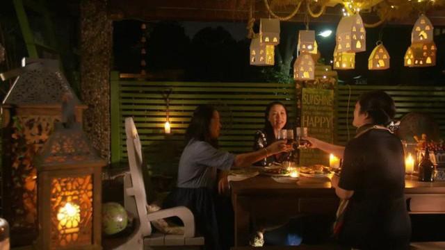 Chị Chen cũng thường mời bạn bè ghé thăm khu vườn của mình.