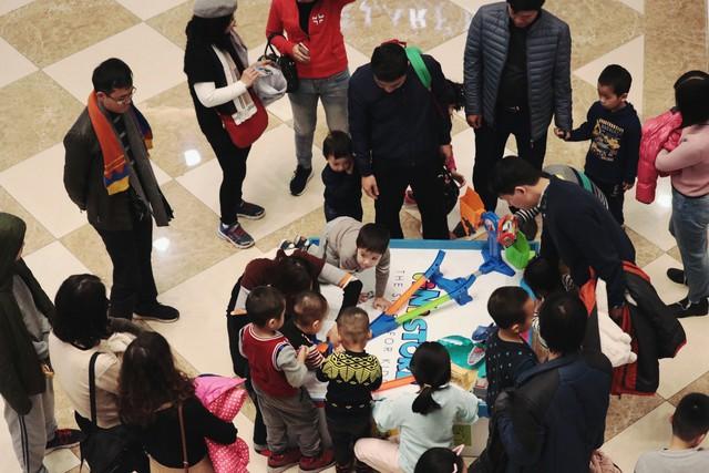 Khu vực thu hút sự quan tâm của các bé nhất là khu trò chơi.