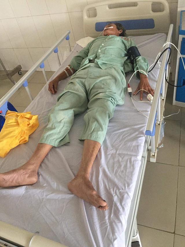 Ông Thao điều trị tại bệnh viện. Ảnh TG