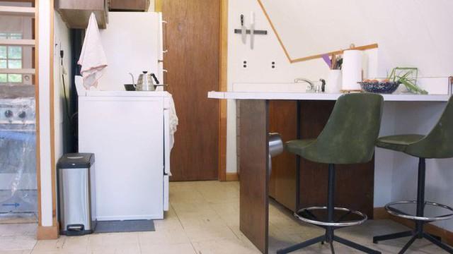 Toàn cảnh không gian phòng bếp lúc chưa cải tạo.