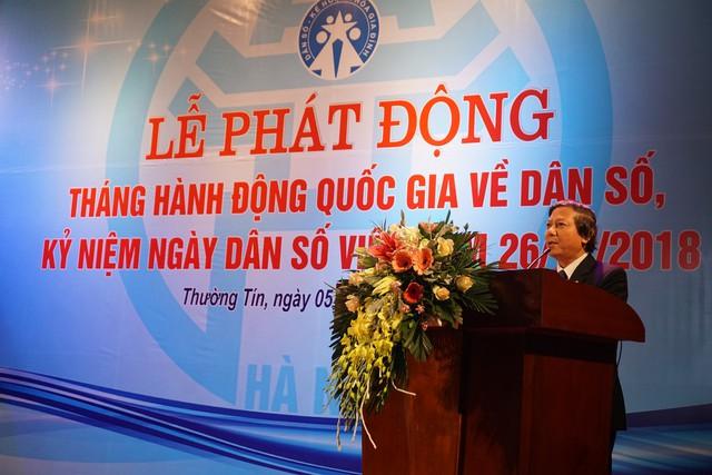 Ông Hoàng Đức Hạnh, Phó Giám đốc Sở Y tế Hà Nội cho biết, Hà Nội luôn quan tâm và chú trọng công tác DS-KHHGĐ, nhất là công tác chăm sóc sức khỏe vị thành niên, thanh niên. Ảnh: N.Mai