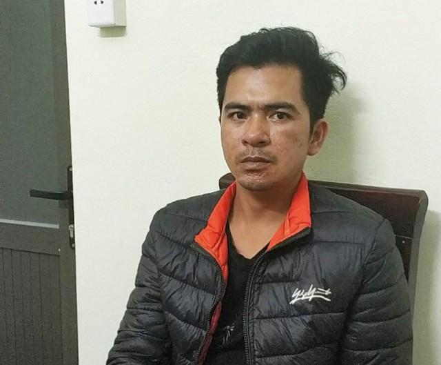 Đối tượng Nguyễn Văn Thảo tại cơ quan điều tra. Ảnh: H.Yến